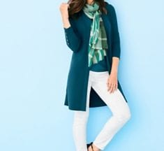 Consider color therapy when you shop at Talbots for clothes and shoes
